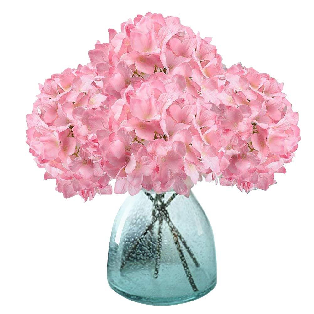 Artificial Hydrangea Flowers, Meiwo 2 Pcs Fake Hydrangea Silk Flowers to Shine Your Wedding Scene Arrangement and Home Party Decor(Blue)