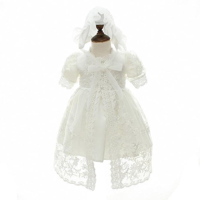 ZAMME Vestido de niña de niña de bautizo bautizos vestido de niña de flor: Amazon.es: Ropa y accesorios