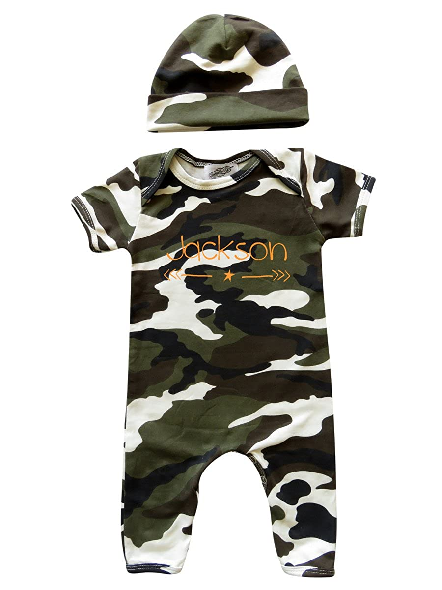 Personalized Rompers with Matching Hat for Boys Gender Neutral Girls