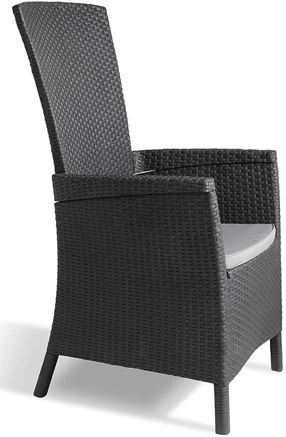 Keter - Silla reclinable de jardín Vermont, Color gris: Amazon.es ...