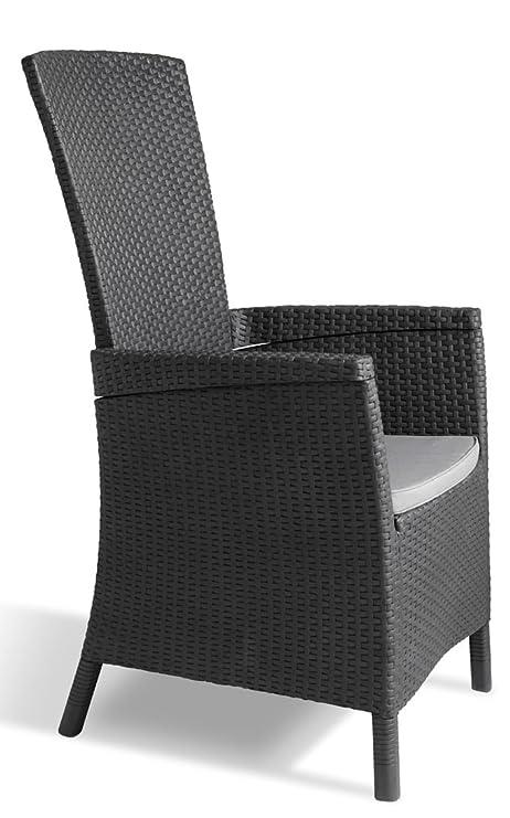Keter - Silla reclinable de jardín Vermont, Color gris