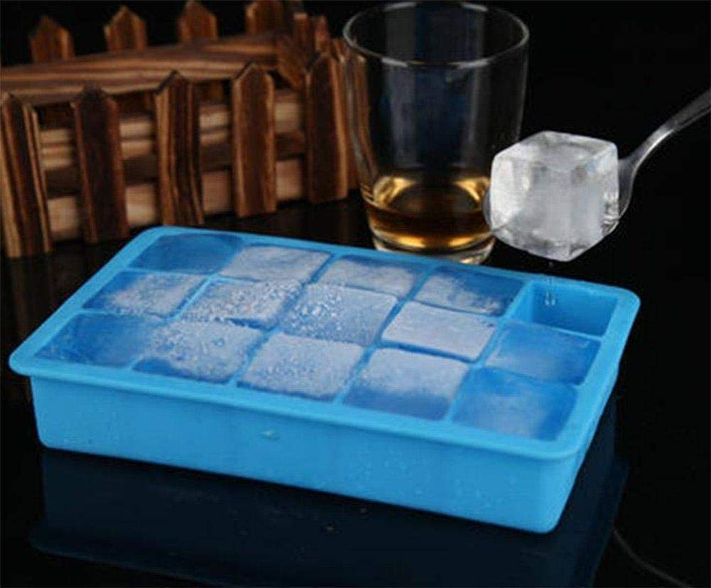 Depory 15/griglia silica-gel Ice Tray ecologico Square Ice lattice DIY Ice Model blu