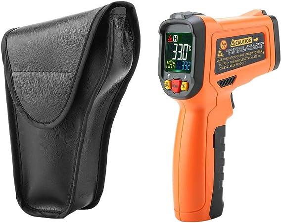 Thermomètre Infrarouge, PM6530B Pistolet Numérique de Température sans Contact à Affichage LCD avec Indication de Pile Faible 58 Display ~ 1022 LCD