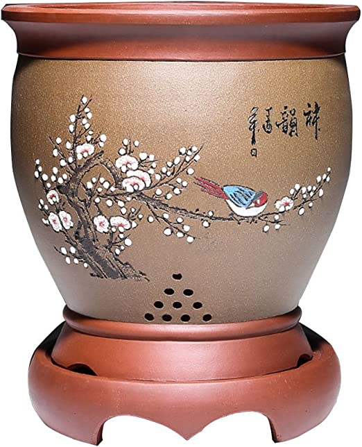 Wonderful Orchid Flower Pot pots NEW Sand Tan Brown Round
