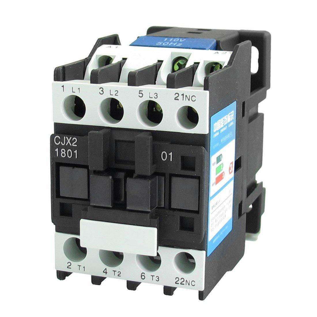 Baomain AC Contactor CJX2-1801 110V Coil 3P 3 Pole 660V 32A NC(Normally Closed)
