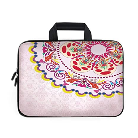 f6a79fc06e9f Amazon.com: Floral Laptop Carrying Bag Sleeve,Neoprene Sleeve Case ...