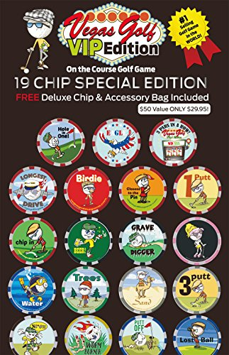 - Vegas Golf VIP Edition 19 chip Game with Free Deluxe Tee Bag