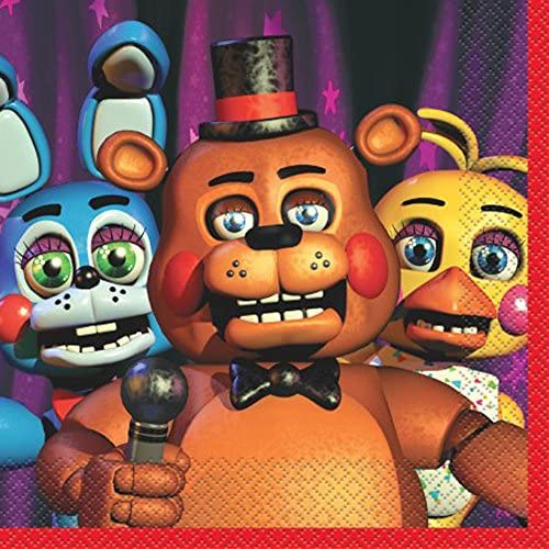 Five Nights At Freddy 's Lunch Napkins ( 16ct )