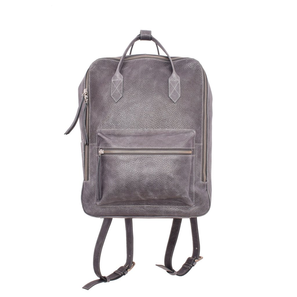Latico Leathers Zora Backpack Genuine Authentic Luxury Leather, Designer Made, Business Fashion and Casual Wear, Pebble Denim