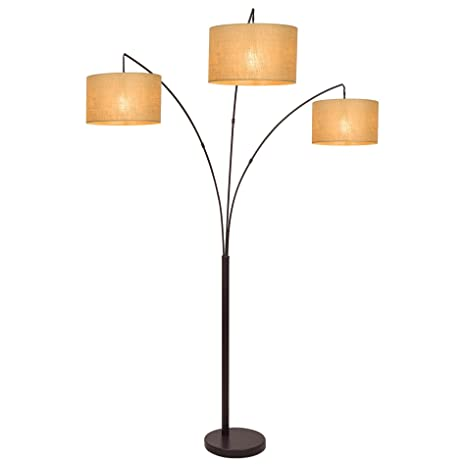 revel akira 80 3 light arc floor lamp antique bronze finish