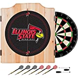 Illinois State University Deluxe Solid Wood Cabinet Complete Dart Set - Officially Licensed!