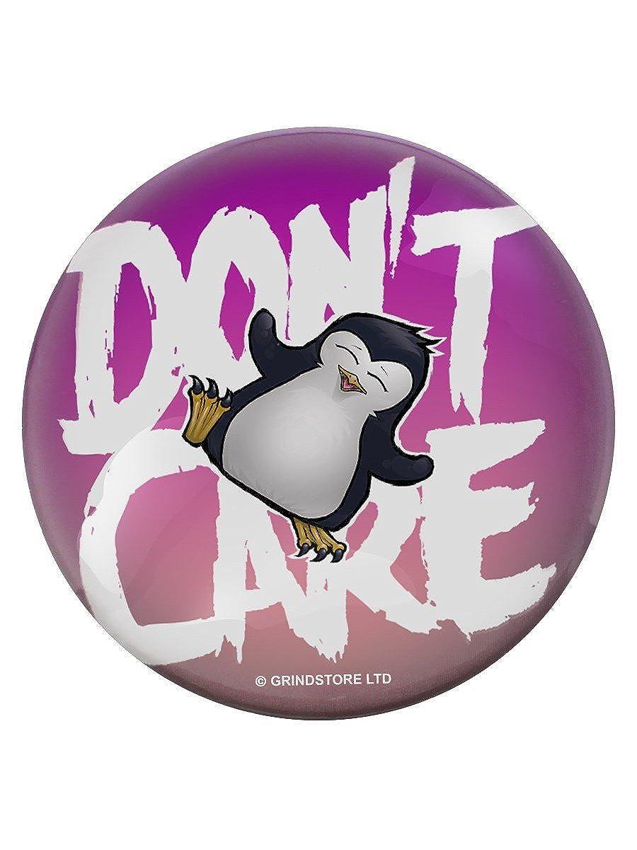 Psycho Don't Care-Spilla a forma di pinguino, colore: viola