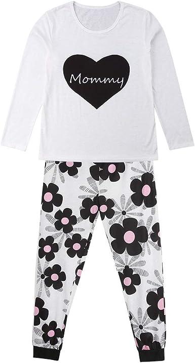 Conjunto de pijama familiar, 2 piezas de playera de manga ...