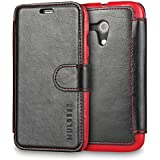 Moto G Case Wallet,Mulbess [Layered Dandy][Vintage Series][Black] - [Ultra Slim][Wallet Case] - Leather Flip Cover With Credit Card Slot for Motorola Moto G [2013 1st Gen 4.5 inch]