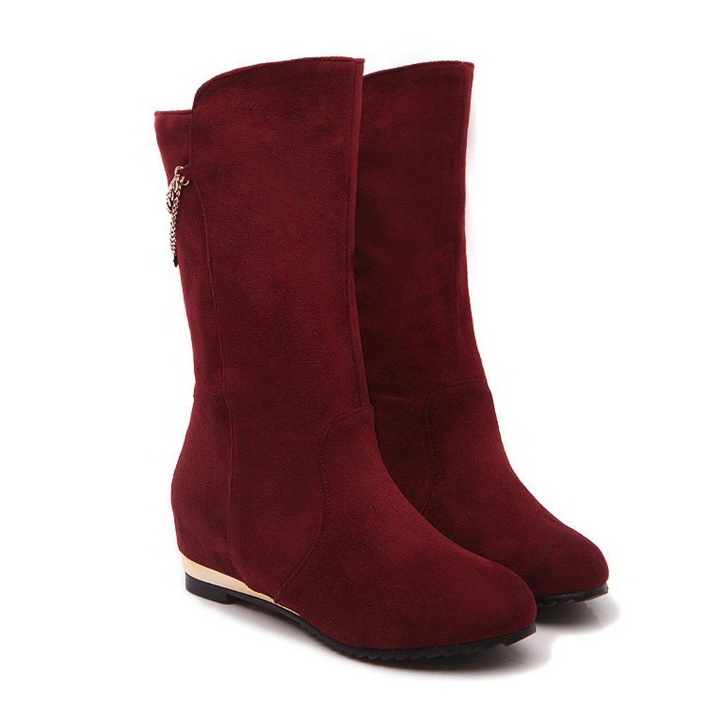 AdeeSu Womens Round-Toe Casual Round-Toe Womens Wedges Suede Boots SXC01928 B077WVXM9Y Boots f6a2ff