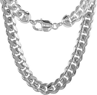 Rhodium Sterling Silver Curb Link Chain