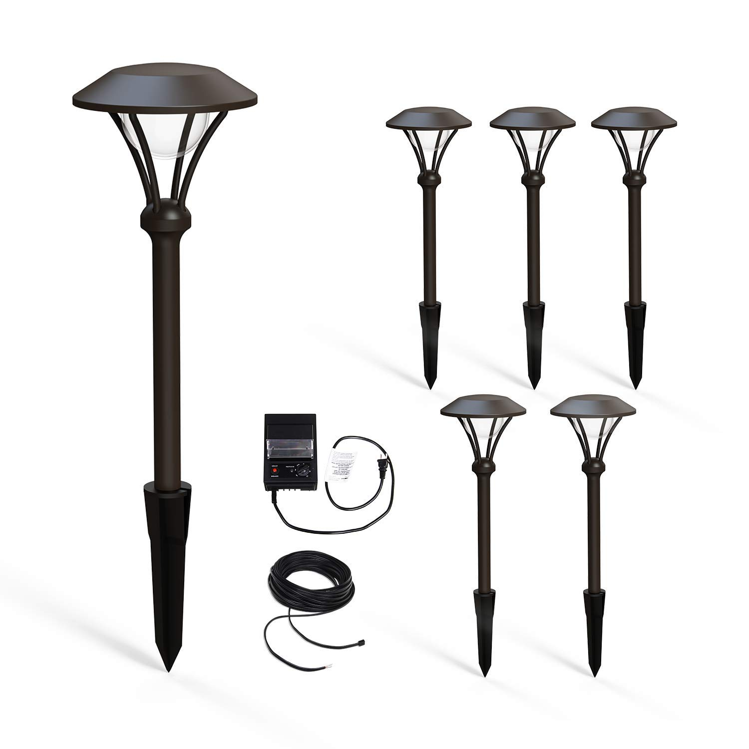 Malibu Celestial 6 Pack LED Pathway Lights, LED Low Voltage Landscape Lighting Garden Light for Driveway, Yard, Lawn, Pathway, Garden 8406-2904-06