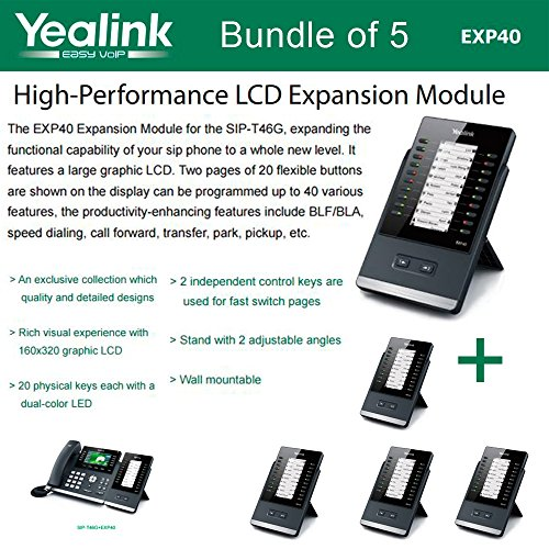 Yealink EXP40 Expansion Module for SIP-T46G and SIP-T48G (5-Pack) ()