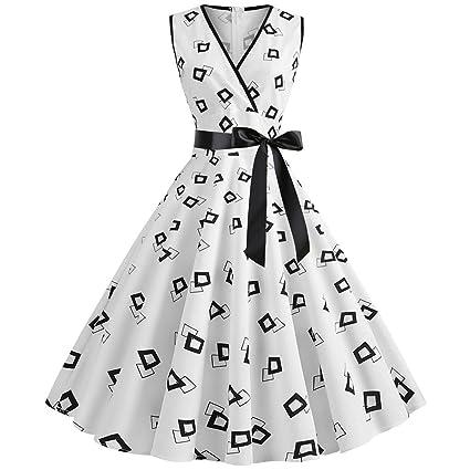 Pinup - Vestido vintage de los años 50, estilo rockabilly, con ...