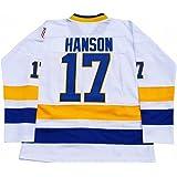 Steve Hanson #17 Charlestown Chiefs Slap Shot Home White Jersey S M L XL XXL