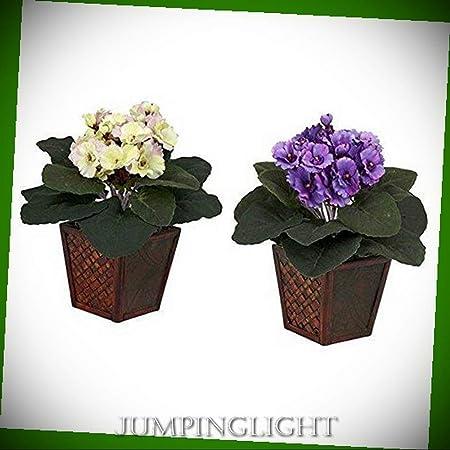 JumpingLight 6685-S2 - Juego de 2 Flores Artificiales para centros ...