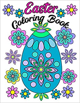 Amazon.com: Easter Coloring Book: Large Print Adult Coloring Book ...