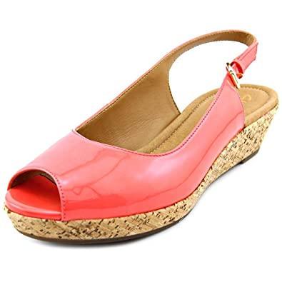 020042b66 CLARKS Women s Orlena Currant Wedge Sandal Coral Style 09198
