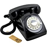 GPO 1970's Retro Style Telephone with Rotary Dial - Black
