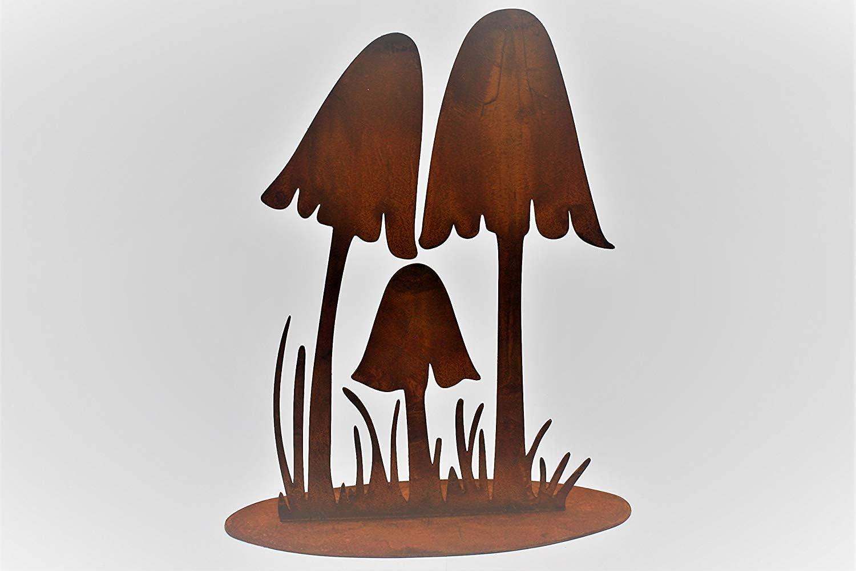 Fliegenpilz Rostoptik Herbstdeko Gartendeko Metall Pilz Rost 29 cm