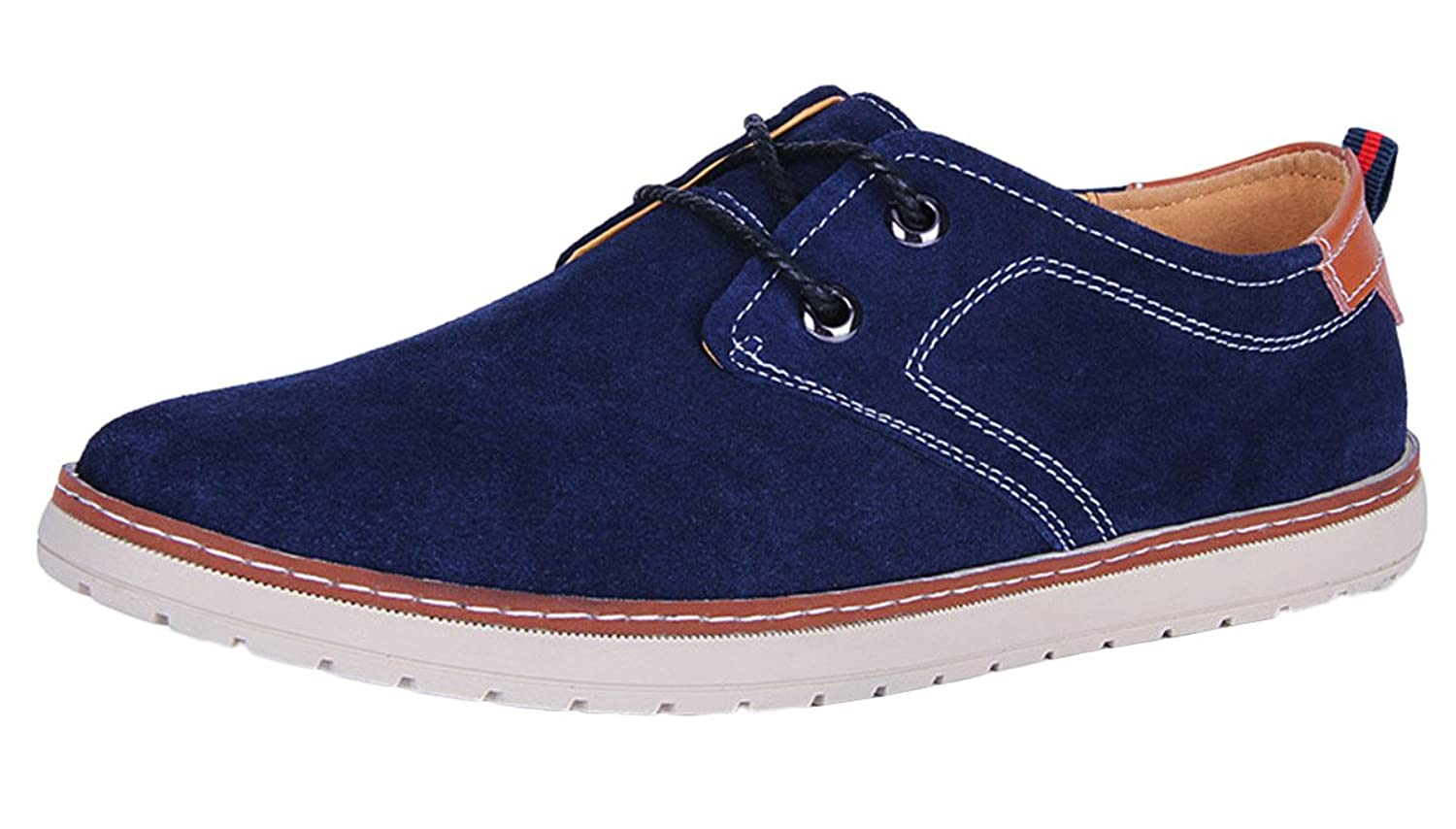 Passionow Men's Casual Dress Lace-up Suede Leather Oxfords
