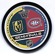Mustang Product Montreal Canadiens v Vegas Golden Knights 2021 Stanley Cup Semi-Finals Souvenir Hockey Puck