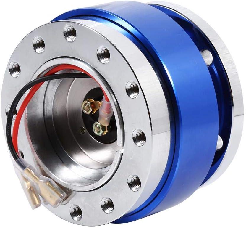 Fydun Kit adattatore mozzo ruota Volante sferico universale a 6 fori Bullone di sgancio rapido Kit adattatore a scatto Nero