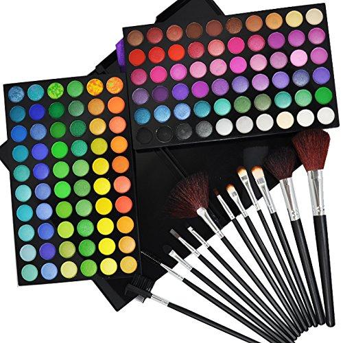 Beauties Factory 120 Color eyeshadow makeup palette & 12 Bru