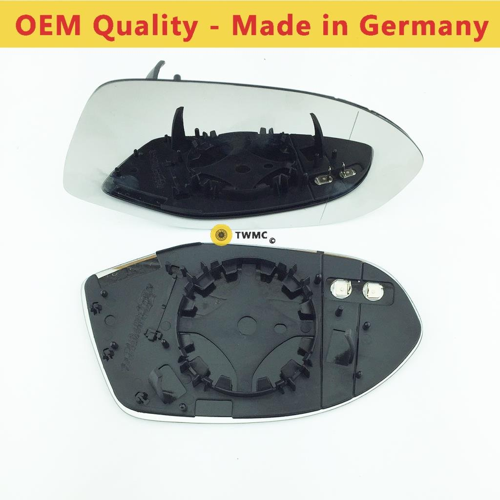Wide Angle Car Door Wing Mirror Glass Including Base Plate UK Driver Side AD 2011 to 2017 Heated