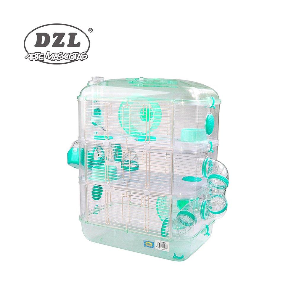 DZL Jaula para Hamster de plástico Duro, caseta Bebedero comedero Rueda Todo Incluido (1 Piso, 2 Piso, 3 Piso) (1 Piso, Verde Menta): Amazon.es: Productos ...