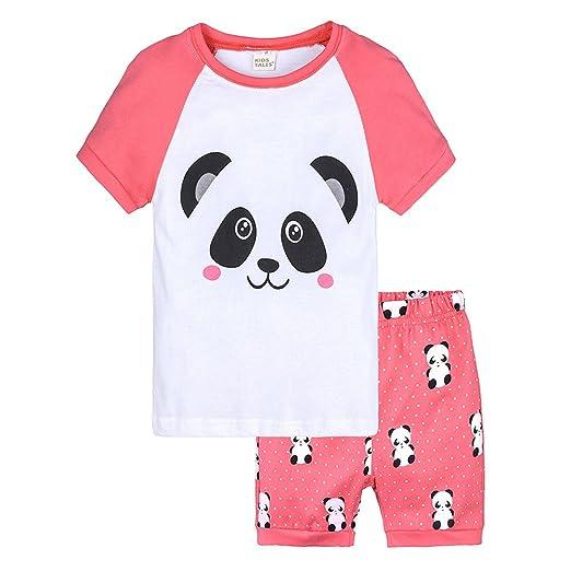 73064e5a0ce1 Winsummer Little Kids Girls Pajamas Shorts Set Panda 100% Cotton Boys  Sleepwear Toddler T-