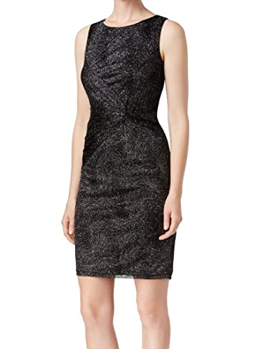 Calvin Klein Womens Glitter Twist Party Dress