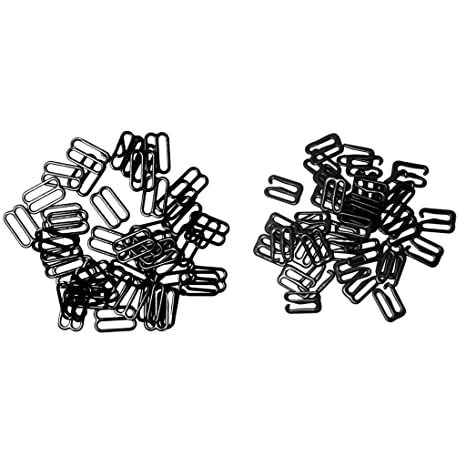 40 White Bra Strap Adjuster Clips 20 mm Sliders Fig 8 Bra Accessories Solutions