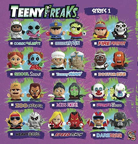 Party Animal Teenymates Teenyfreaks Complete Base Set of 12 Double Sided Mini Figures Minifigure Set