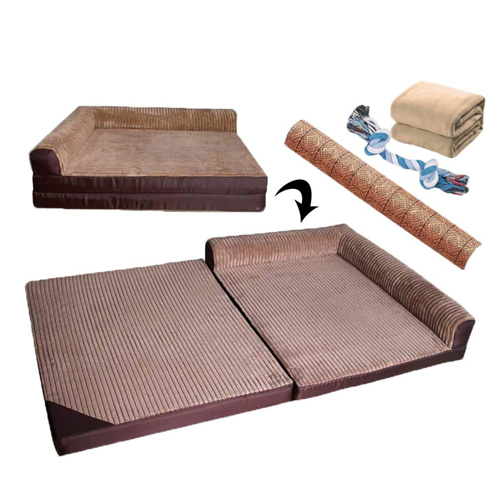 110655.5cm Oversized Pet Dog Bed Orthopedic Sofa Sponge mats Couch Bed for Dogs & Cats Removable and washable Small Medium Large Dog Large size 111  65cm