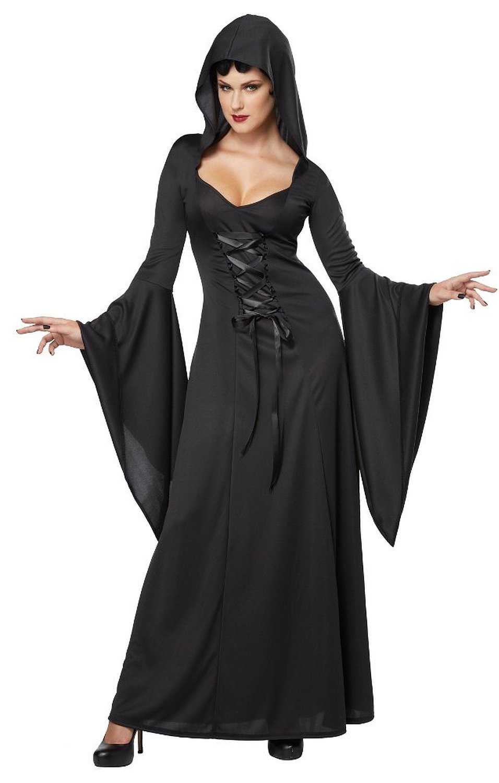 Generique - - - Dämonisches Hexen-Kostüm für Damen Halloween Vampirin schwarz XL a61193