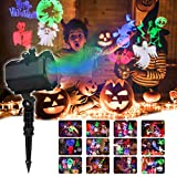 Halloween Led Projector Light, InnooLight 15 Slides Projector Lamp, Waterproof Indoor and Outdoor Christmas Projector Light Holiday LED Lights for Various Themes Halloween, Christmas, Birthday, Valentine's Day, Easter, Carnival