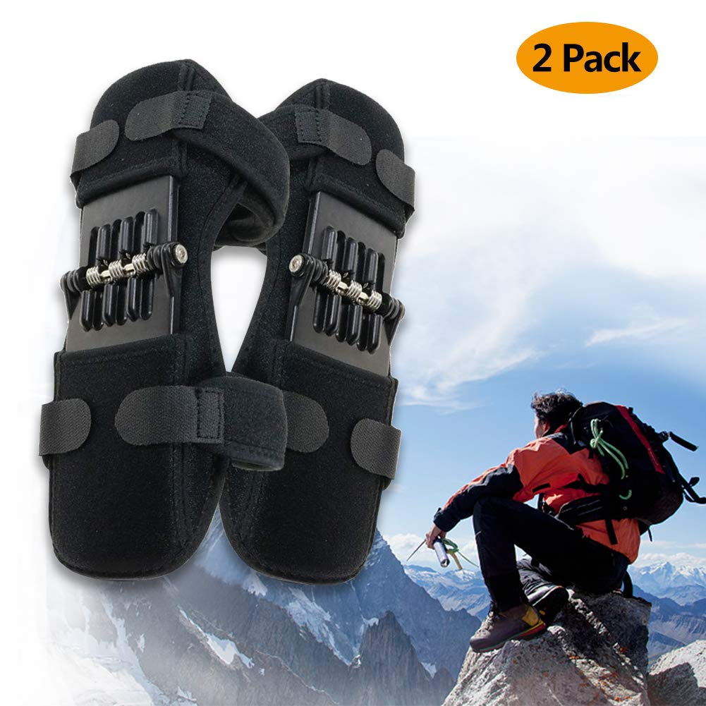 Powerlift Knee Protection Booster Old Cold Leg Knee Band Mountaineering Deep Care Joint Support Knee Pads Powerful Rebound Spring Force by FEBSNOW