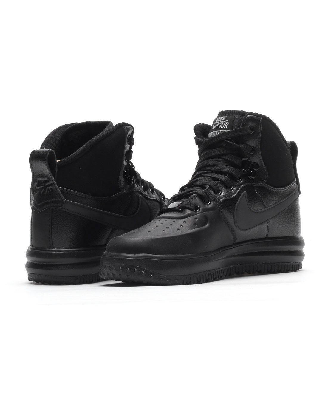 Nike Lunar Force 1 Sneakerboot (GS) Black/Black-Metallic Silver (4.5Y) by Nike (Image #3)