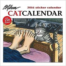 Kliban Cat 2016 Sticker Calendar B 9780764969676 Amazon Books