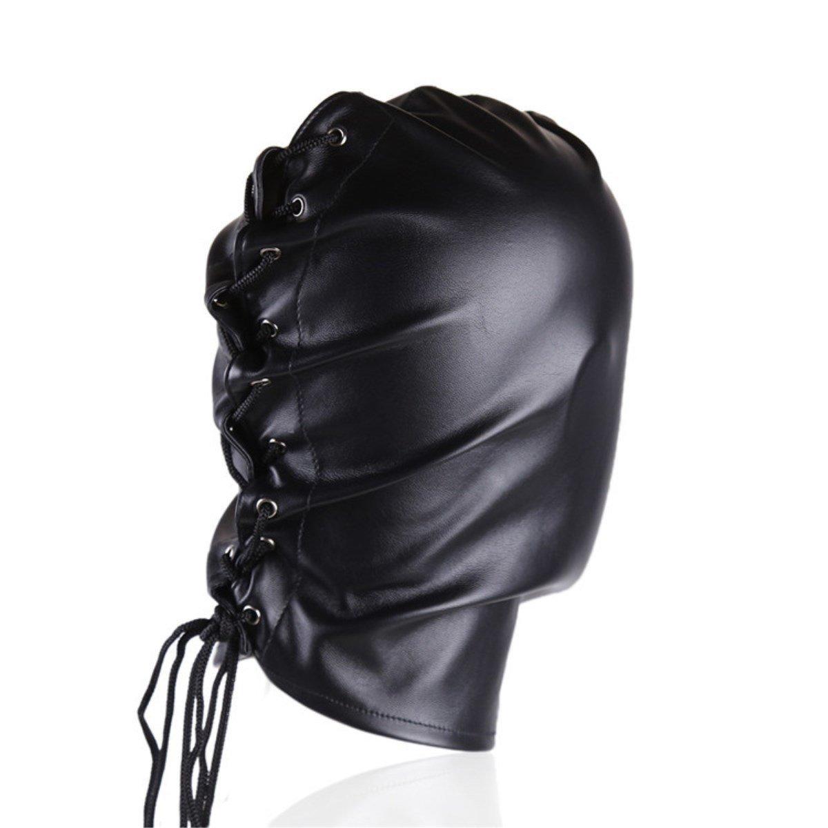 Máscara SM De Cuero Fetish SM Máscara Sex Game Black 528e1b
