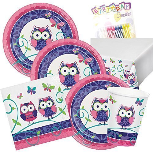 Owl 1st Birthday Party Supplies Pack Sets Plates