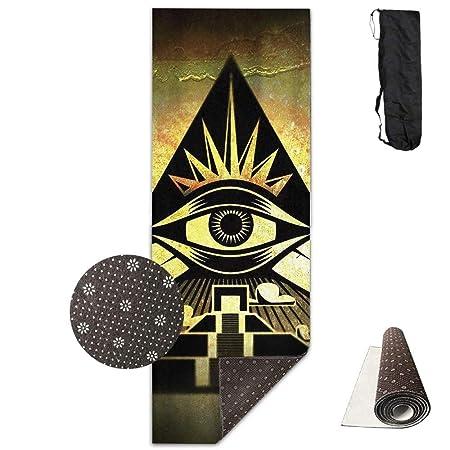 Louis Berry - Esterilla de Yoga con diseño de pirámide ...
