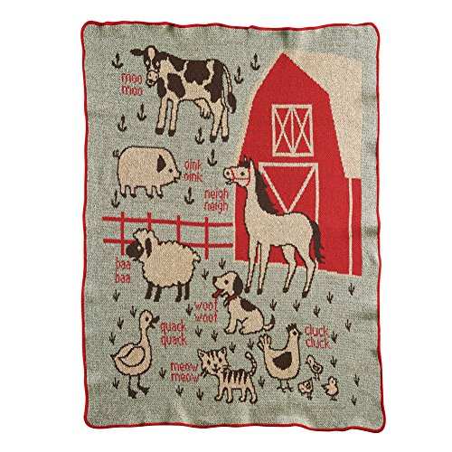 75% Recycled Cotton - Green 3 Recycled Cotton Junior Throw Made in USA … (7A Farm)