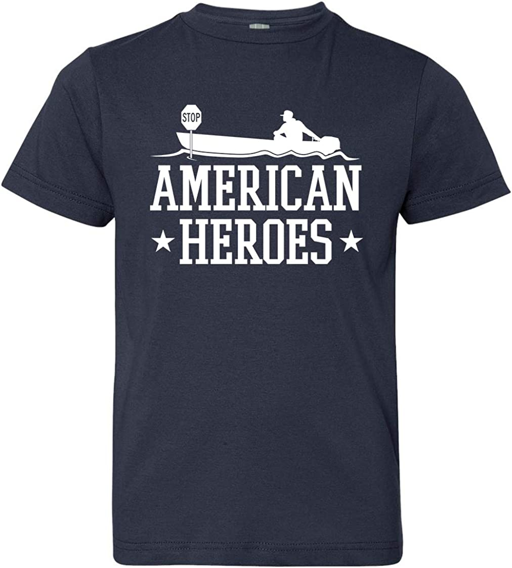 X-Large Navy Tenacitee Boys Youth American Heroes T-Shirt